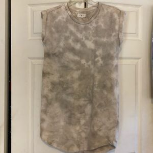 "Grey ""tie dye"" sweatshirt dress"